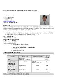 Maintenance Engineer Resume Aircraft Maintenance Planning Engineer Resume Virtren Com