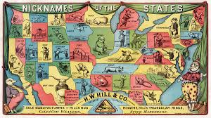 United States Map With State Names by List Of U S State Nicknames Wikipedia