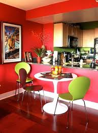 green dining room simple dining room with red wall color marble countertop white