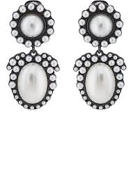 on earrings kenneth imitation pearl clip on earrings barneys warehouse