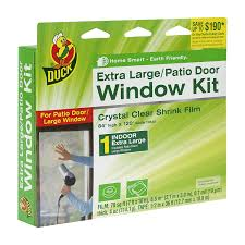 Window Film For Patio Doors Duck Brand 282450 Indoor Extra Large Window Patio Door Shrink Film