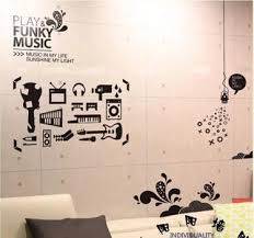 music graffiti wall stickers home decoration abstract personality