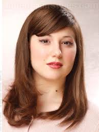 flattering medium length haircuts for round faces hairs picture