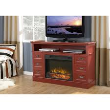electric fireplace media console with corner design image of