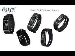 oled bracelet review images Rce smart bands color oled screen with bp hr and fitness jpg