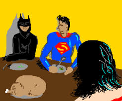 justice league has thanksgiving dinner