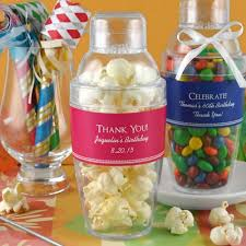 21st Party Decorations Personalized Birthday Cocktail Shaker Favor