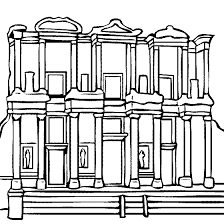 library celsus ephesus turkey coloring draw