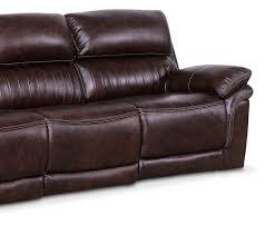 Black Leather Reclining Loveseat Monterey 3 Piece Power Reclining Sofa Chocolate American