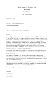 Free Cover Letter Template Resume Cover Letter Example For Teacher Templates