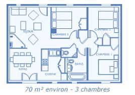 plan de maison 3 chambres salon parc des mimosas maisons avec terrasse et jardin en location à