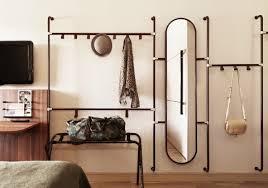 creative hallway coat racks and long oval mirror founterior