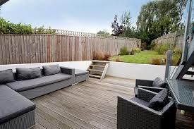 Decking Garden Ideas Garden Living Space White Walls Furniture Decking Lentine Marine