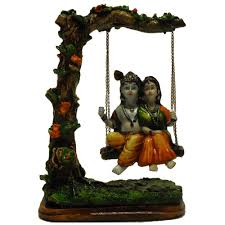earth radha krishna on a swing showpiece god idols homeshop18