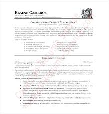 roofing resume samples construction manager resume free download