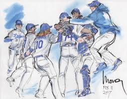 scenes from the dodgers u0027 postseason through the pen of courtroom