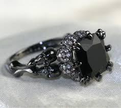 black zircon rings images Skull ring black zircon women 39 s wedding ring punk jewelry jpg