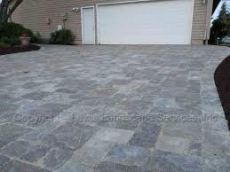 Concrete Patio With Pavers Lewis Landscape Services Paver Patios Portland Oregon
