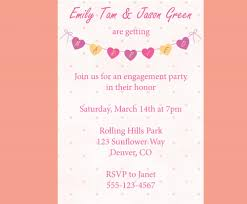 Engagement Invitation Cards Images Sweet Simple Engagement Invitation Card Plus Colorful Love Shaped