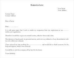 free sample letters of resignation lukex co