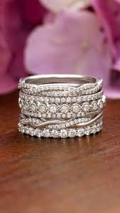 Stacked Wedding Rings by 10 Stacked Wedding Rings Worth Obsessing Over Anniversary Bands
