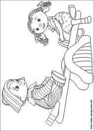 pin marjolaine grange coloriage andy pandy