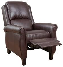 Brown Leather Recliner Denise Austin Home Memphis Pu Leather Recliner Club Chair