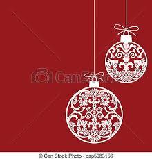 clip vector of ornaments balls hanging