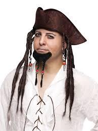 Halloween Costume Goatee Mens Hair Pirate Braided Braid Goatee Beard Costume