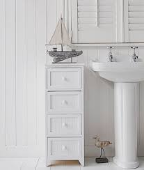 White Freestanding Bathroom Storage Bathroom Cabinet Storage White 4 Drawer Freestanding Bathroom