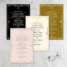 Gatsby Invitations Golden Art Deco Great Gatsby Laser Cut Gatefold Wedding Day