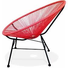siege oeuf pas cher fauteuil acapulco chaise oeuf design rétro cordage corail s
