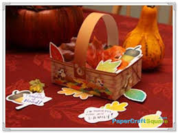 and dale thanksgiving basket papercraft