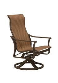 High Back Sling Patio Chairs by Patio Furniture Corsica Sling Tropitone