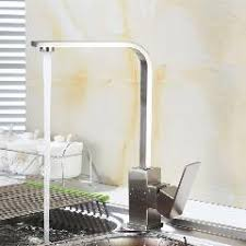 Square Kitchen Faucet by 304 Rotating Lead Free Stainless Steel Kitchen Faucet Square