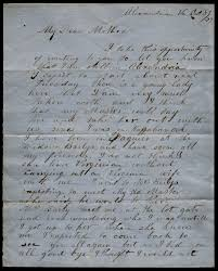 a letter from a slave to his mother 1859 the gilder lehrman