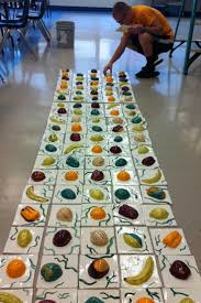 best 25 tile murals ideas on pinterest ceramic tile art high school ceramic artists create a tile mural for the cafeteria to inspire healthy eating http
