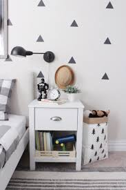 black and white boy u0027s room with triangle decals project junior