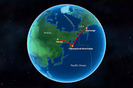 Alaska does sound travel in space images International date line flight from kamchatka to alaska over the