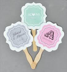 personalized wedding fans wedding paddle fans