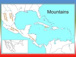 america map mountains physical geography of central america fill in your map as we go