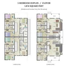 5 bedroom duplex floorplan clover the junction at college station