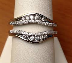 Ebay Wedding Rings by Solitaire Enhancer Round Diamonds Ring Guard Wrap 14k White Gold