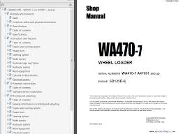 komatsu wheel loader wa470 7 shop manuals pdf repair manual