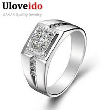 aliexpress buy 2ct brilliant simulate diamond men 226 best rings images on stainless steel rings and
