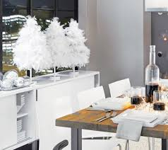 white feather tree tabletop decore