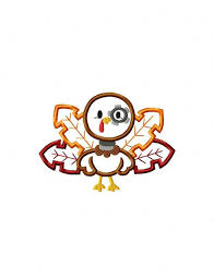 robot turkey appliqué embroidery design thanksgiving applique
