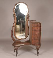 Vanity Tri County Mall Vintage Quarter Sawn Oak Deco Vanity Dresser With Tall Side Mirror