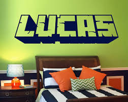 Minecraft Bedroom Decals by Minecraft Wall Etsy