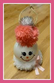 make it easy crafts recycled light bulb ornament breast cancer